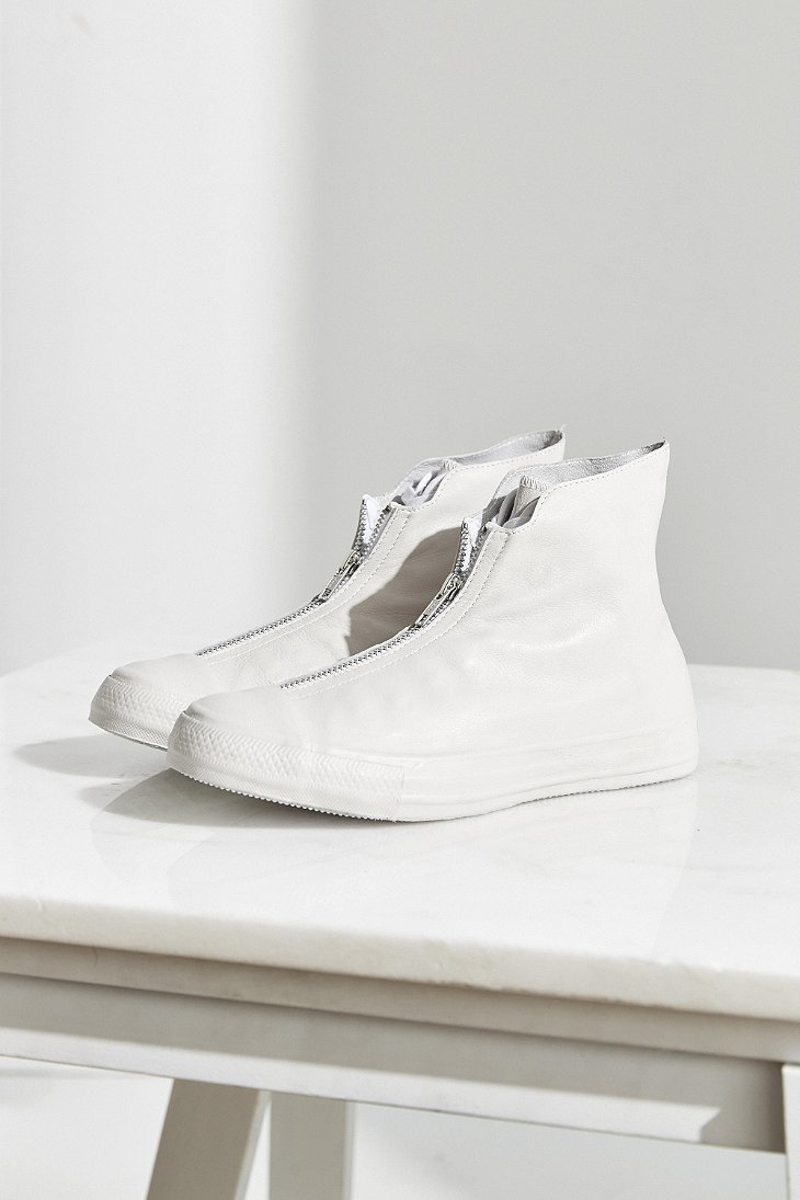 Lyst Converse Chuck Taylor Leather Shroud Sneaker In White