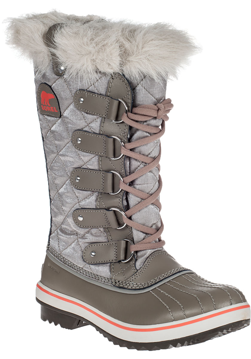 Sorel Tofino Quilted Water-Resistant Boots in Gray