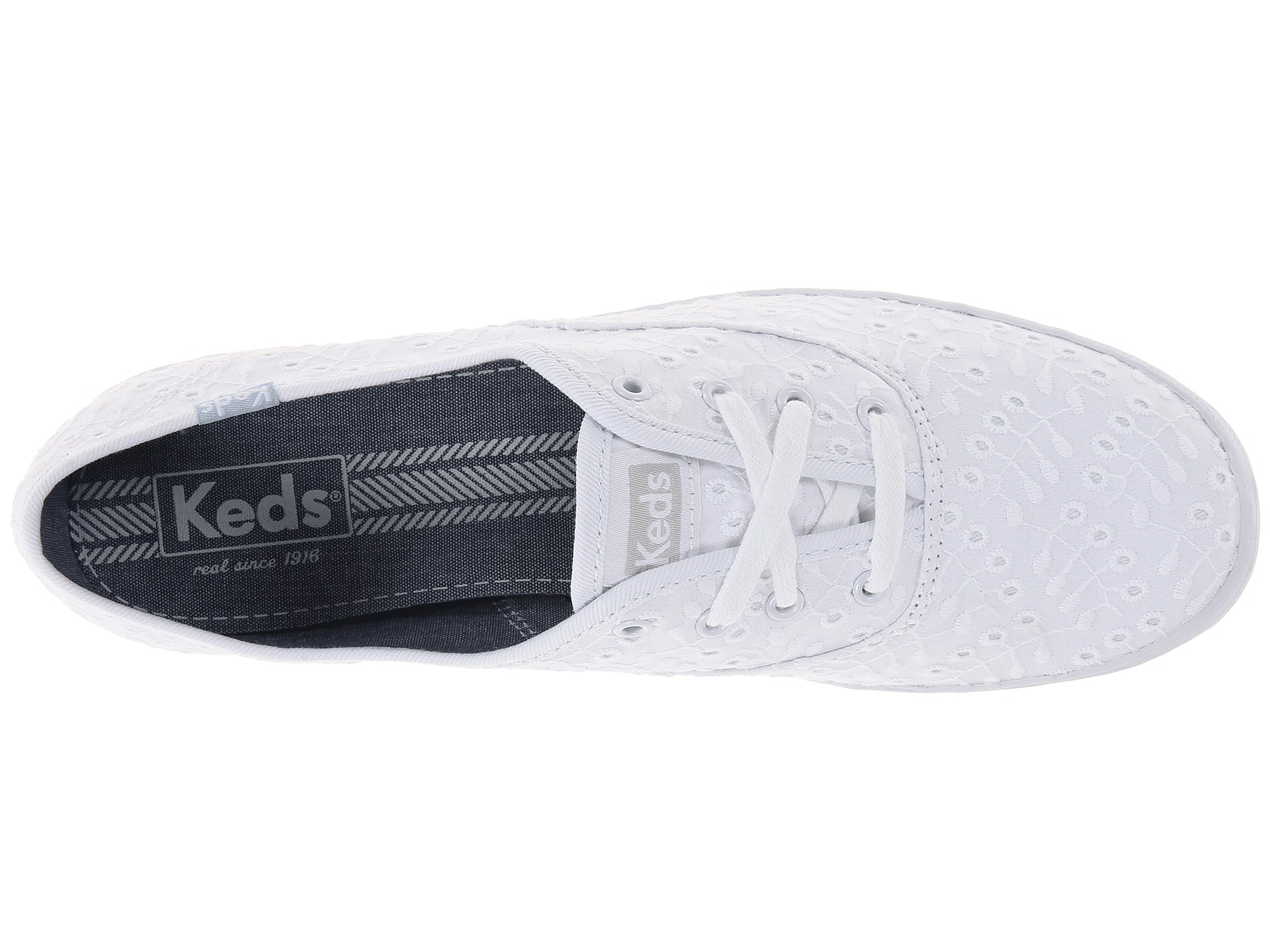 2ee9b9ee8fe85 Lyst - Keds Champion Eyelet Seasonal Solid in White