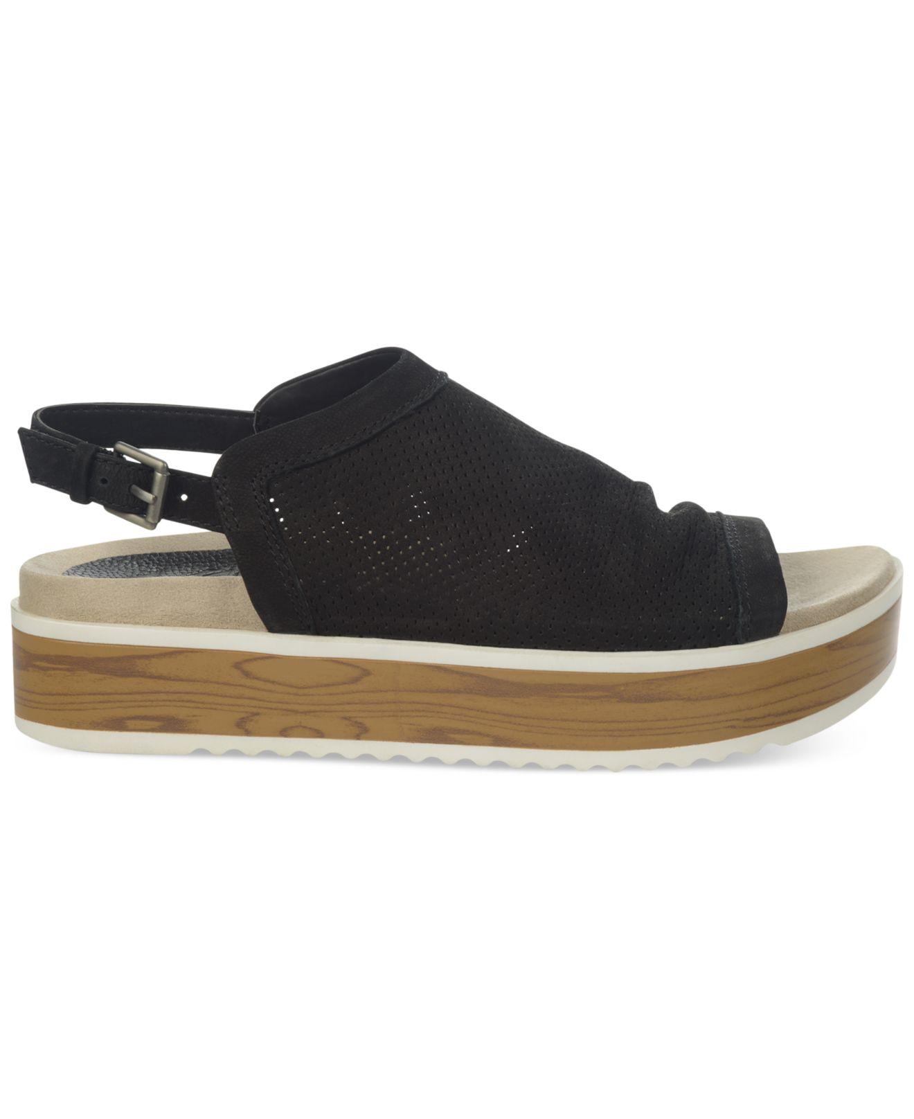 Naya Uno Flat Platform Sandals In Black Lyst