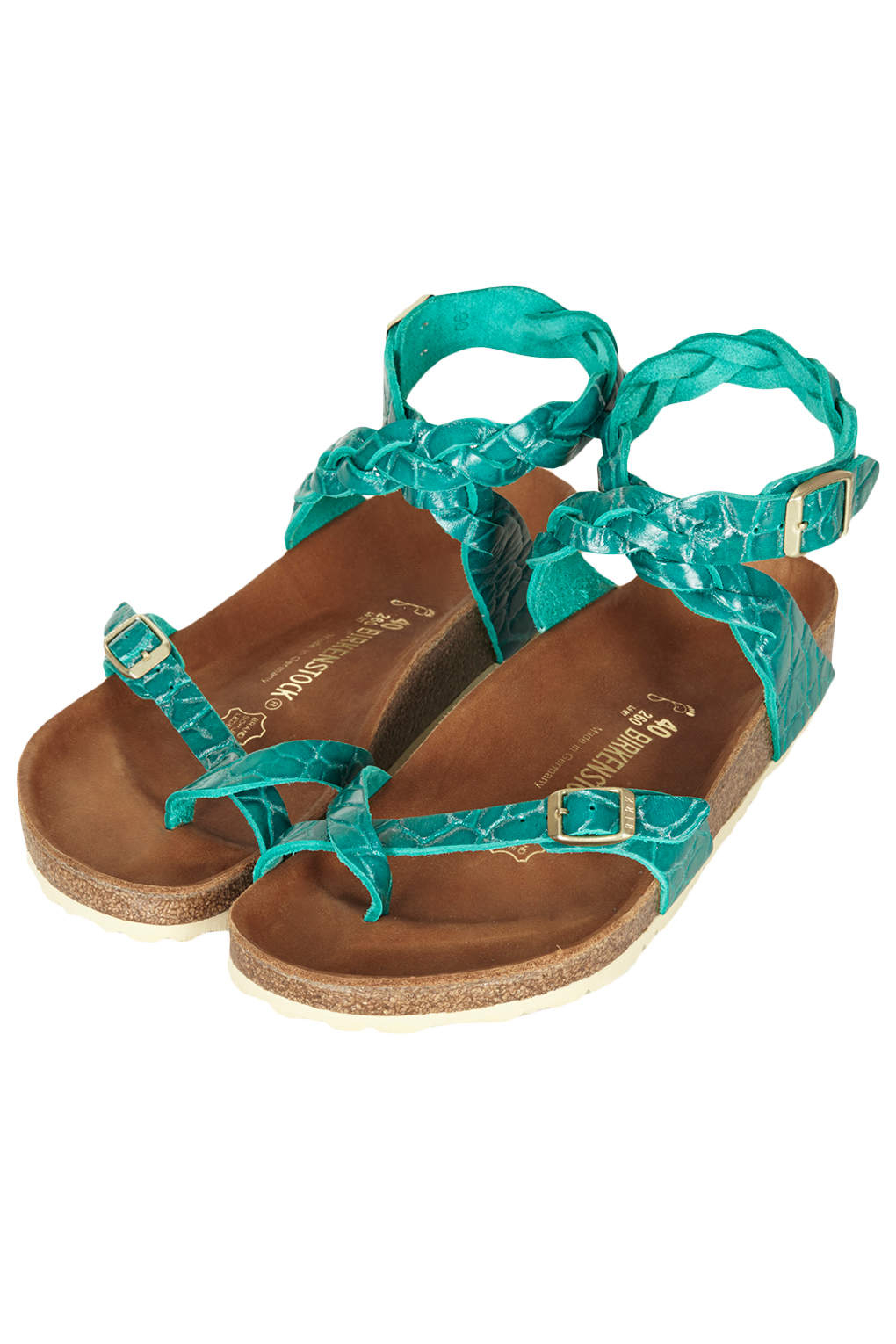 Lyst Topshop Birkenstock Yara Sandals In Green