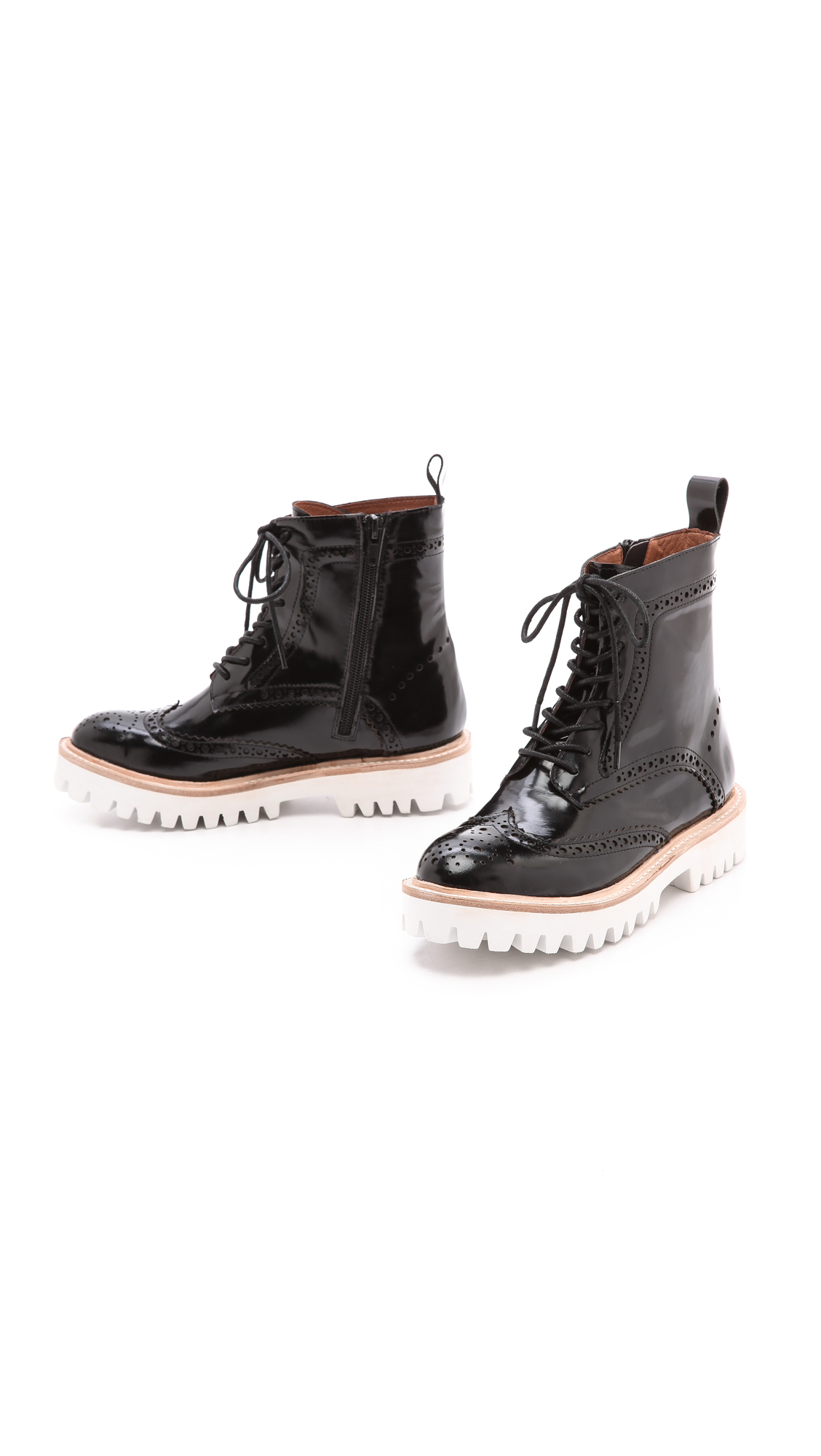 Jeffrey Campbell Clash Lug Sole Combat Boots Black In