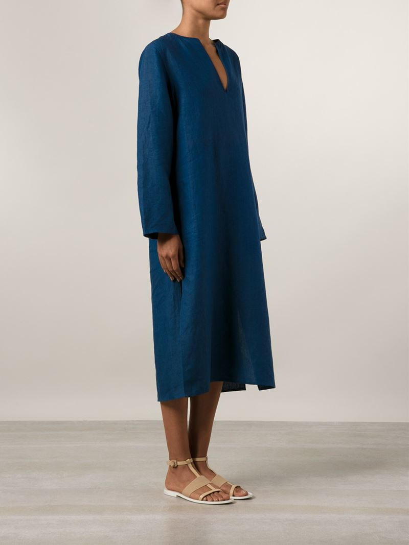 Denis colomb Long Tunic Dress in Blue | Lyst