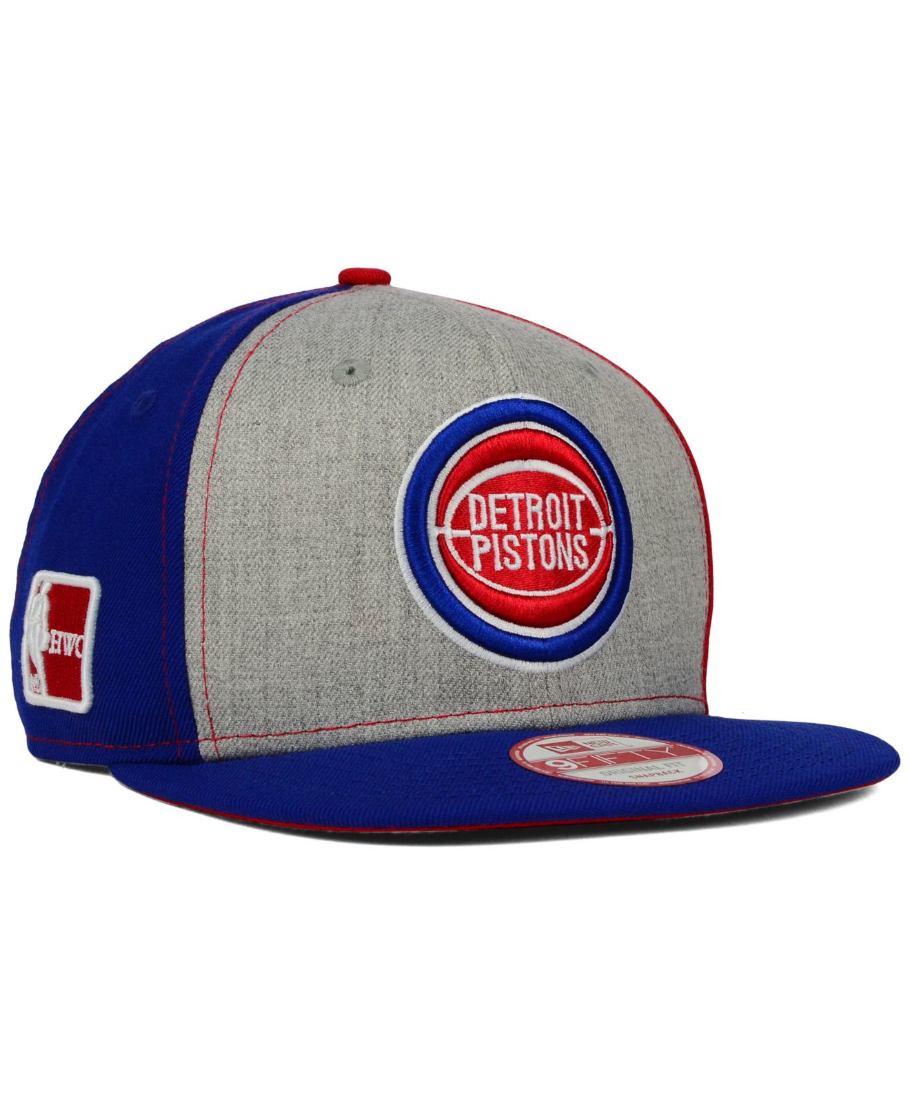pretty nice 00b76 0a75d ... hot lyst ktz detroit pistons tri top 9fifty snapback cap in gray for men  eb734 a4b37