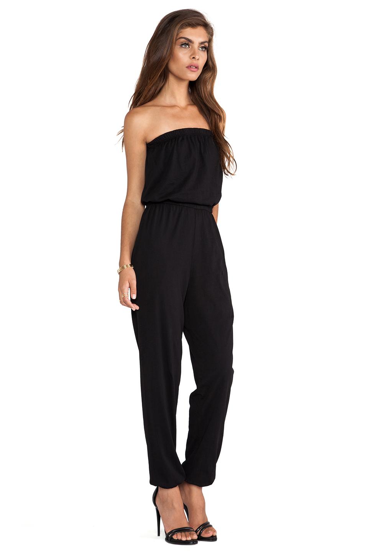 13d9a3126642 Lyst - Bobi Supreme Jersey Jumpsuit in Black