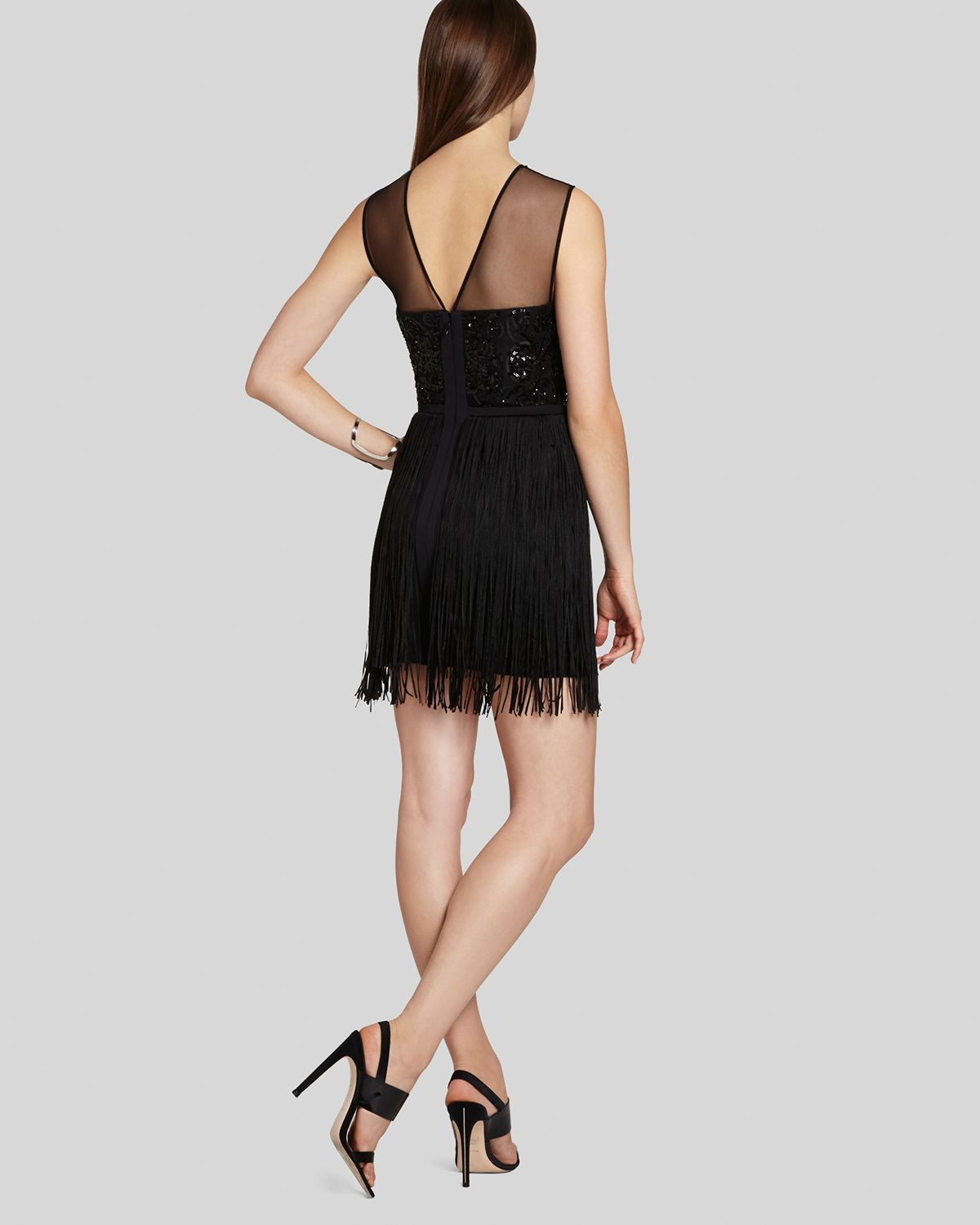 Bcbgmaxazria Bcbg Max Azria Dress Melly Sleeveless Fringe
