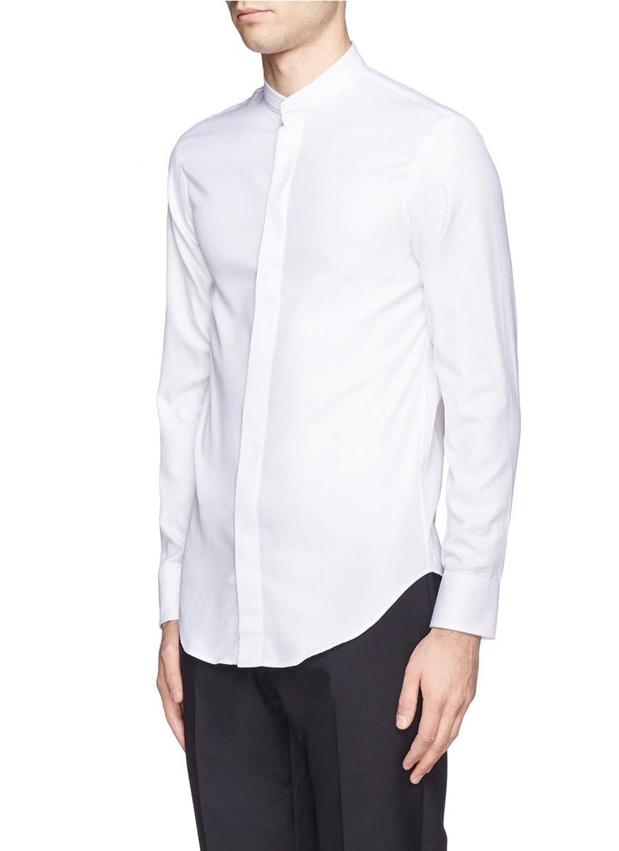 ef599bffa00158 Black Mandarin Collar Tux Shirt – EDGE Engineering and Consulting ...