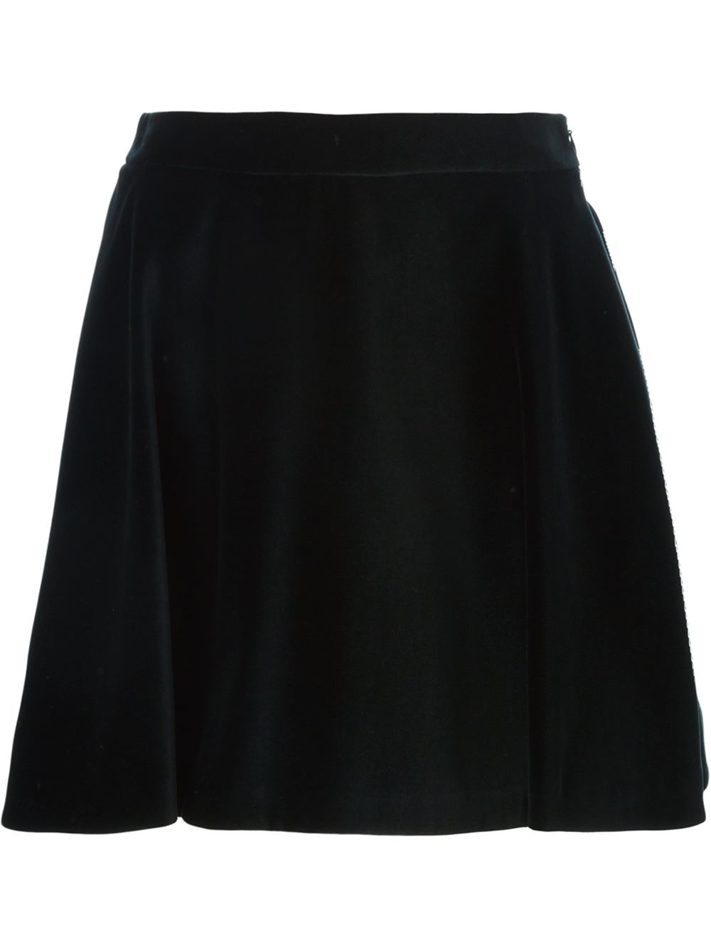 Love moschino A-line Velvet Skirt in Black | Lyst