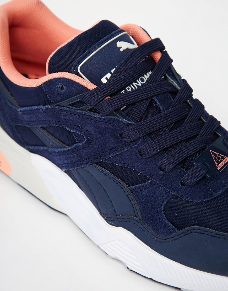 Puma R698 Trinomic Blue Trainers in Blue | Lyst