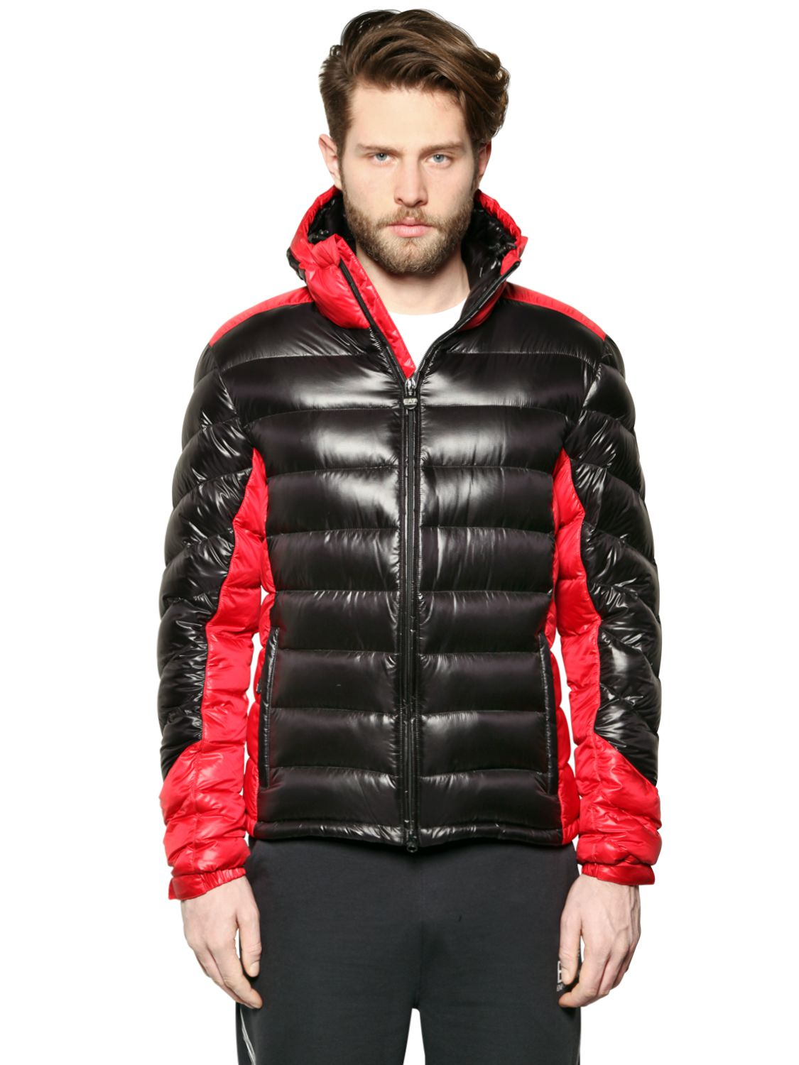 415d342b9 Emporio Armani Extreme Shiny Nylon Down Jacket in Red for Men - Lyst