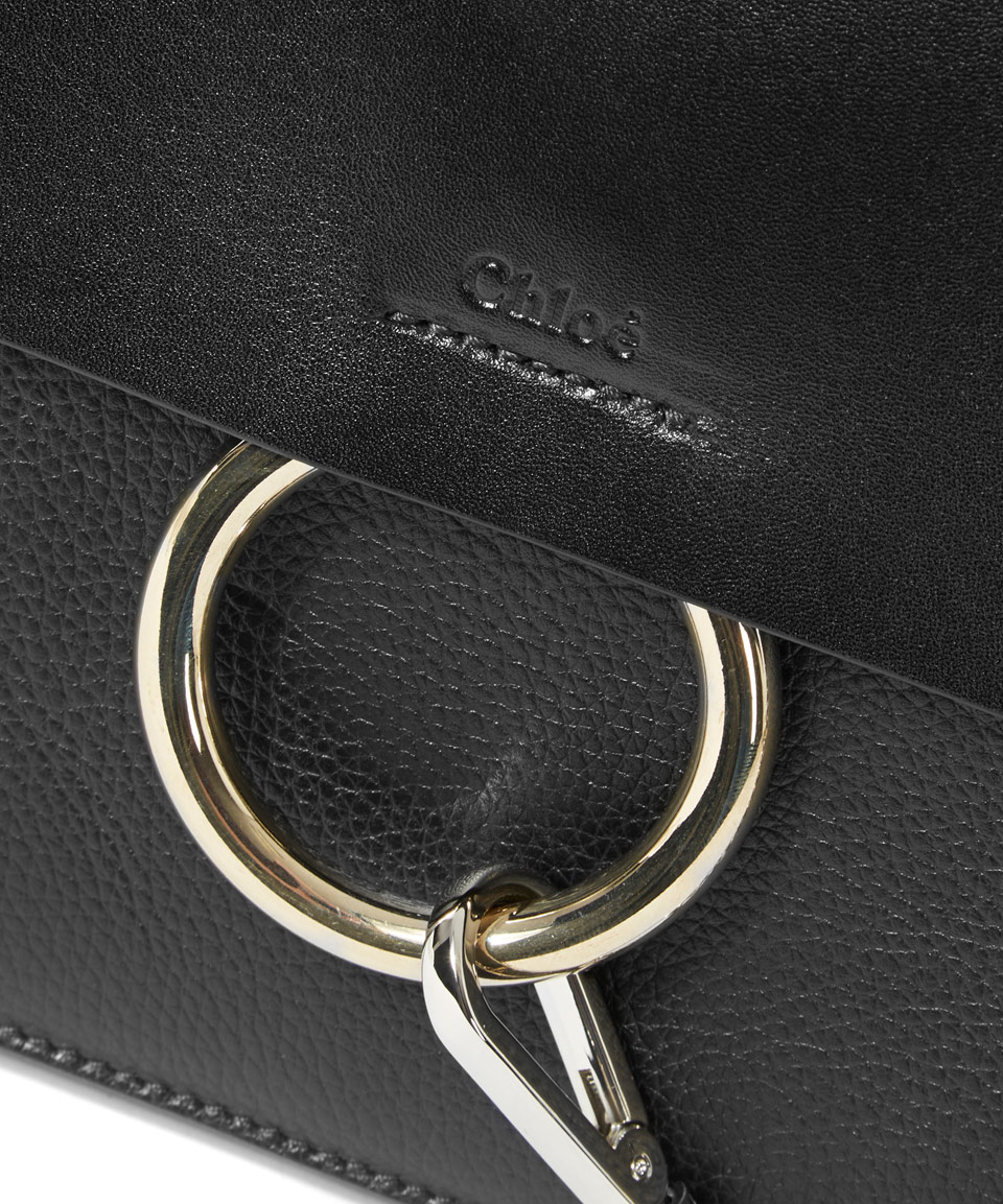 fake chloe purse - Chlo�� Medium Black Faye Leather Shoulder Bag in Black | Lyst