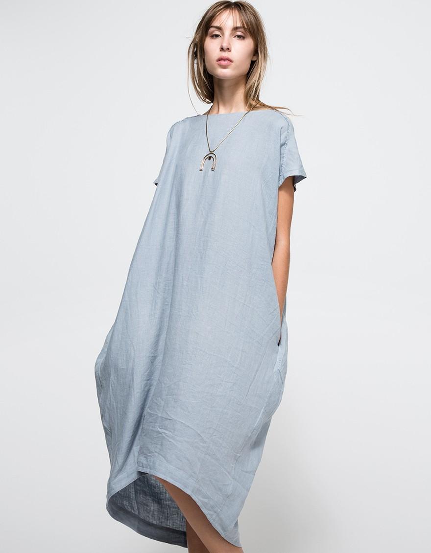 Lyst Black Crane Cocoon Dress In Blue