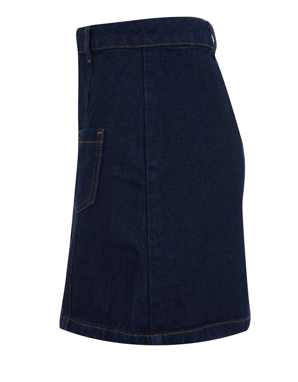 miss selfridge denim a line skirt in blue lyst