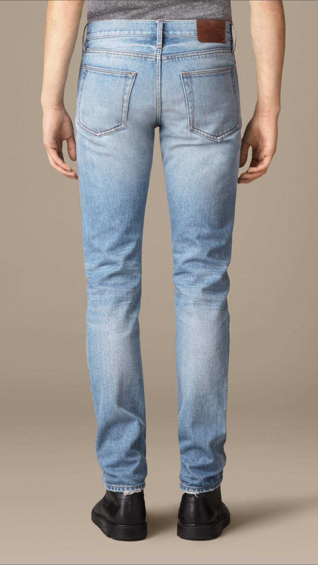 Lyst - Burberry Slim Fit Washed Japanese Denim Jeans in ...