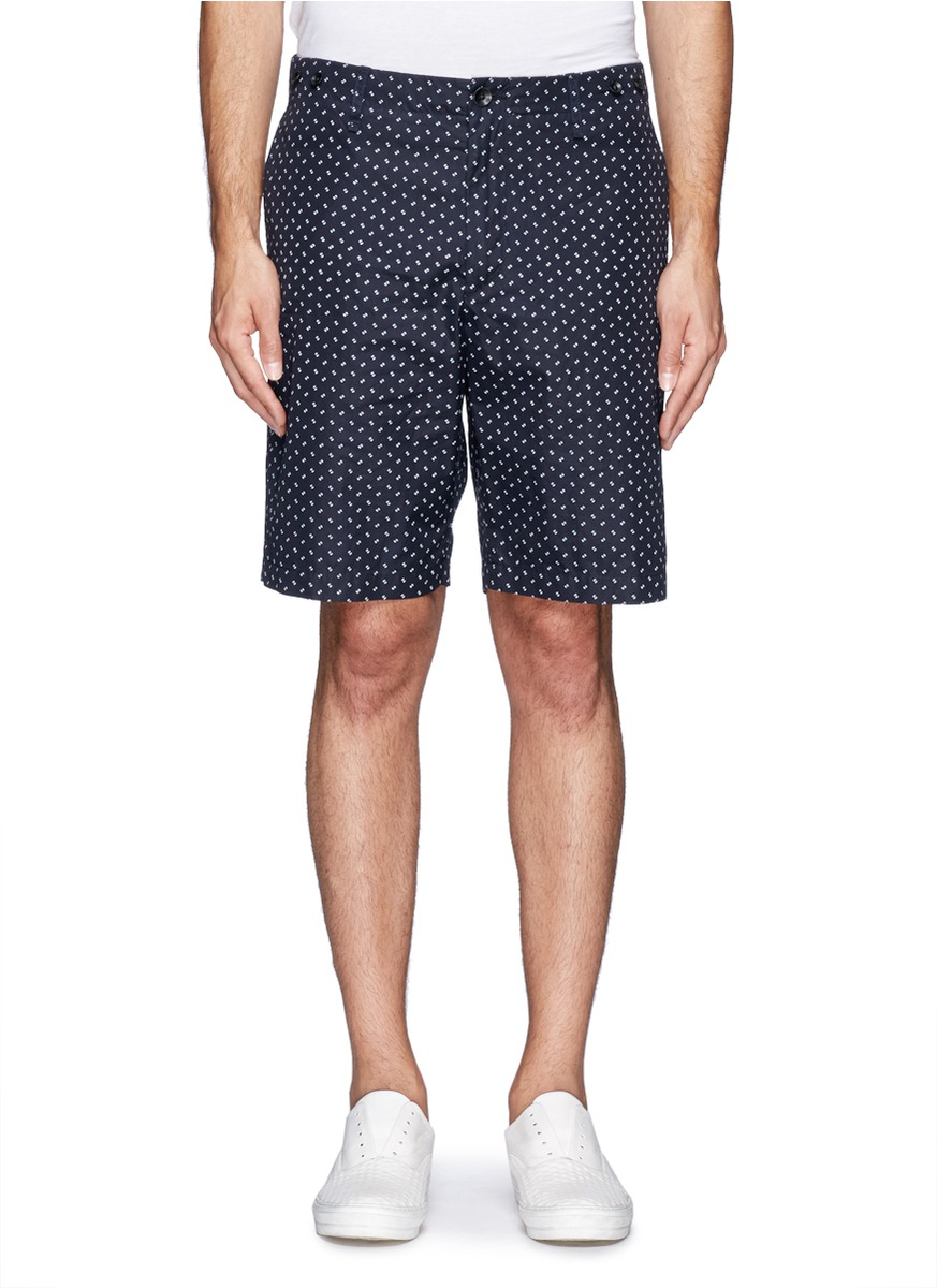 Rag & bone Polka Dot Print Beach Shorts in Blue for Men | Lyst
