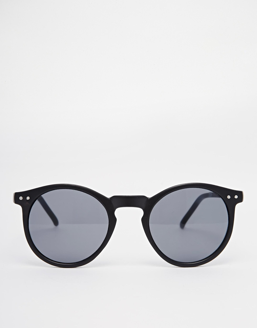 d2a22a9fd1d Lyst - ASOS Round Sunglasses In Matte Black Finish in Black for Men