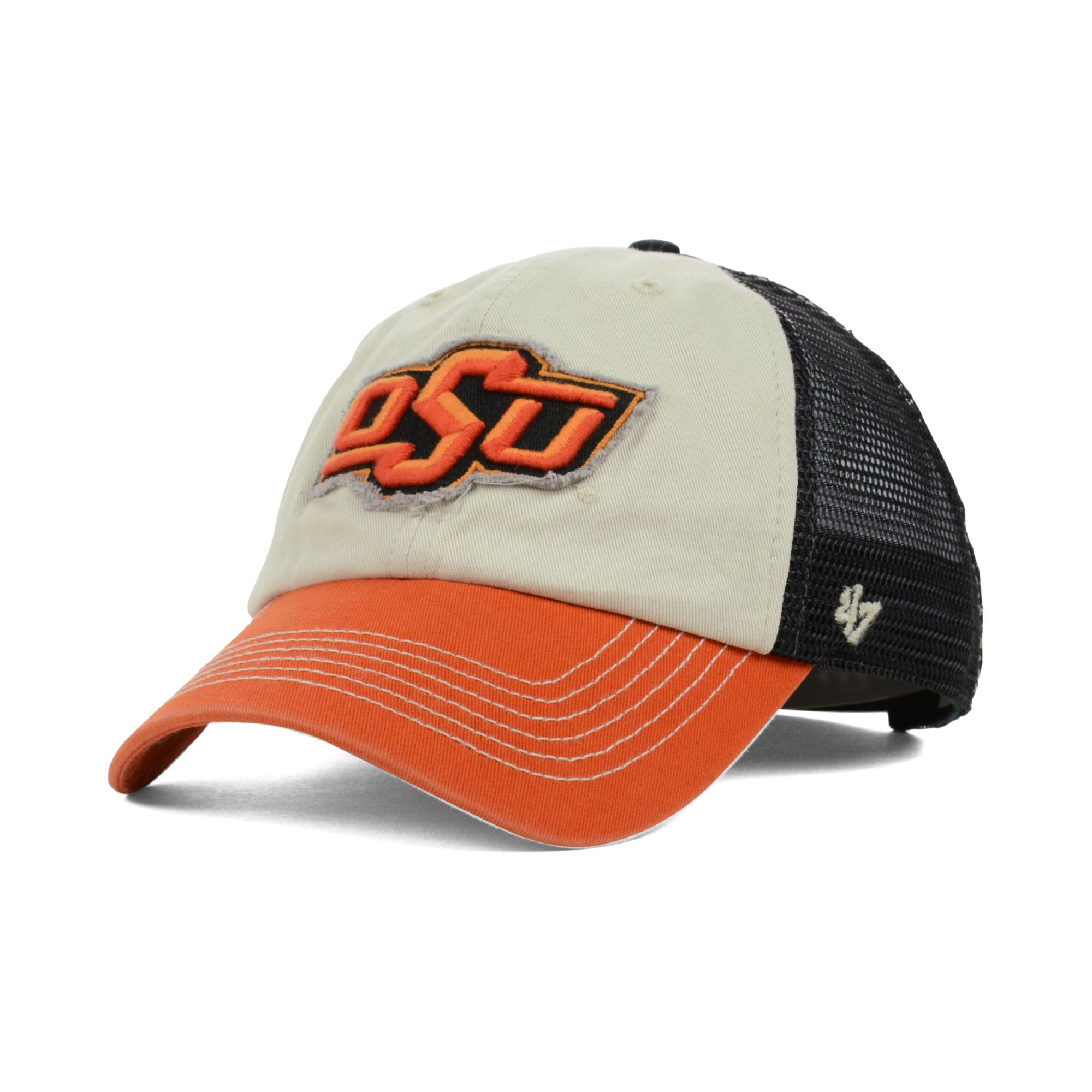 d4b16e58e5d ... clean up cap 20816776 4fe4a 8da76  cheapest lyst 47 brand oklahoma  state cowboys schist trucker cap in natural d508b 4d03d