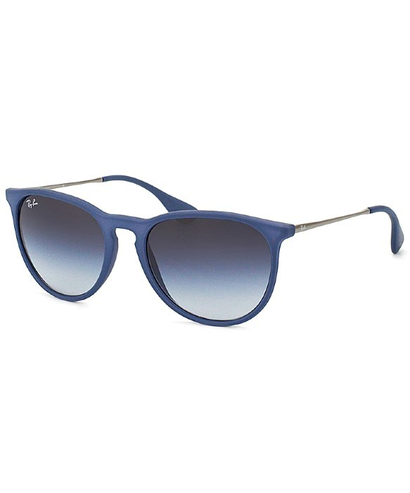 77b913ff792 Ray-Ban Ray Ban Rb4171 Erika 60028g Rubberized Blue Sunglasses Grey ...
