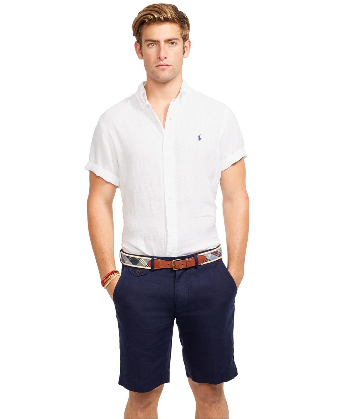 Lyst Polo Ralph Lauren Classic Fit Briton Linen Shorts