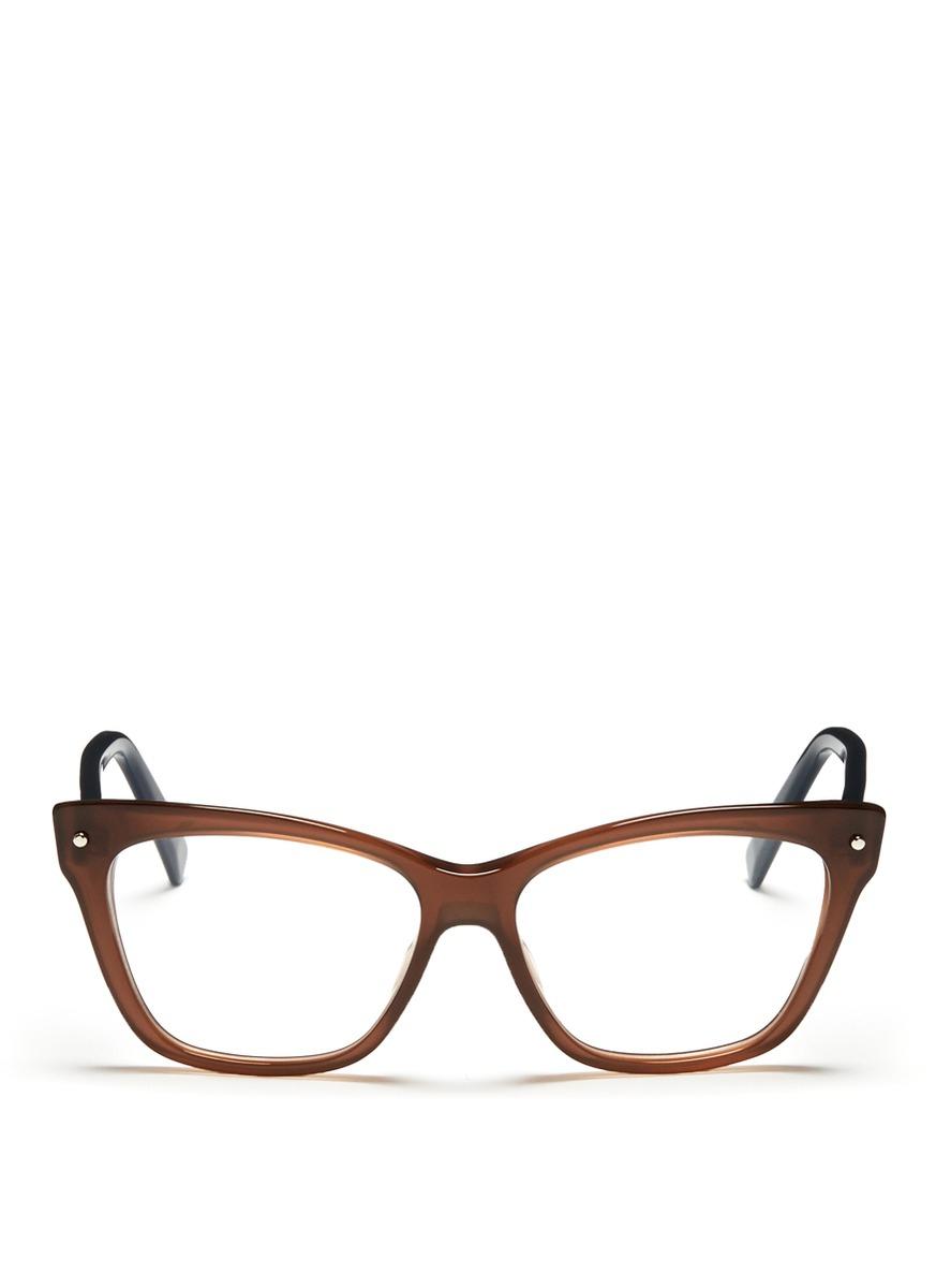 Dior Colourblock Cat Eye Optical Glasses in Brown (Neutral ...