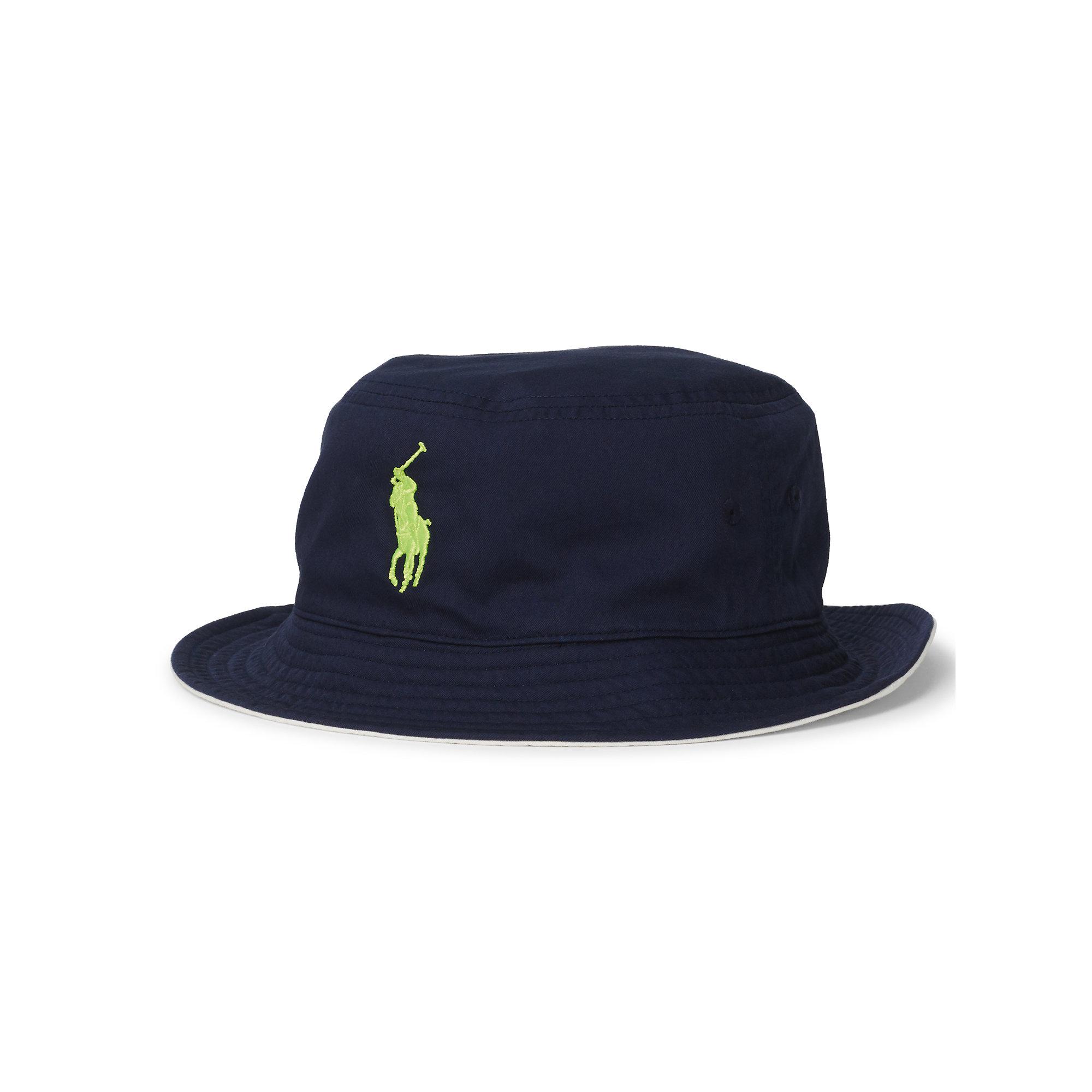 33507926 Polo Ralph Lauren Us Open Reversible Bucket Hat in Blue for Men - Lyst