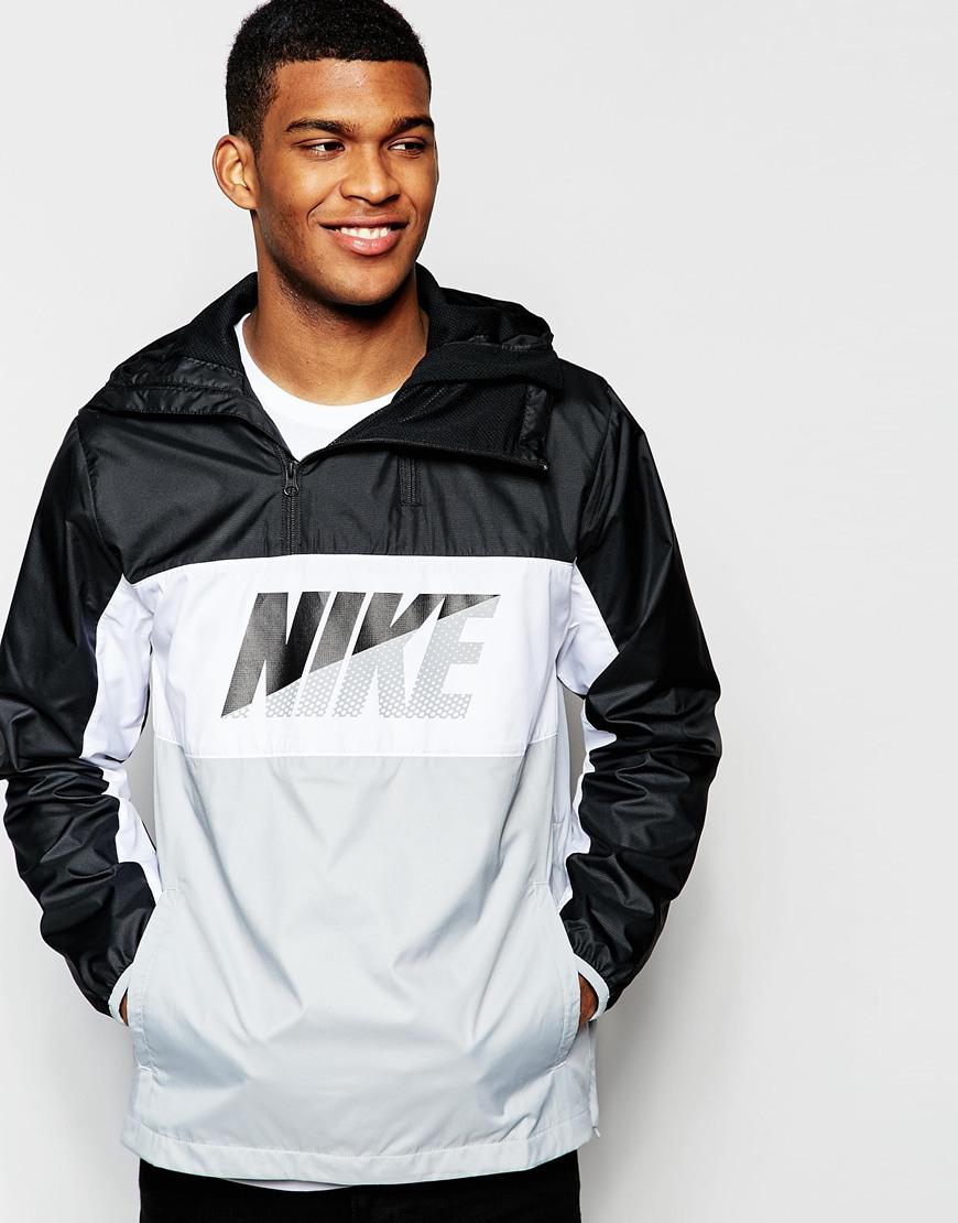 nike half zip jacket 727739 010 in black for men lyst. Black Bedroom Furniture Sets. Home Design Ideas