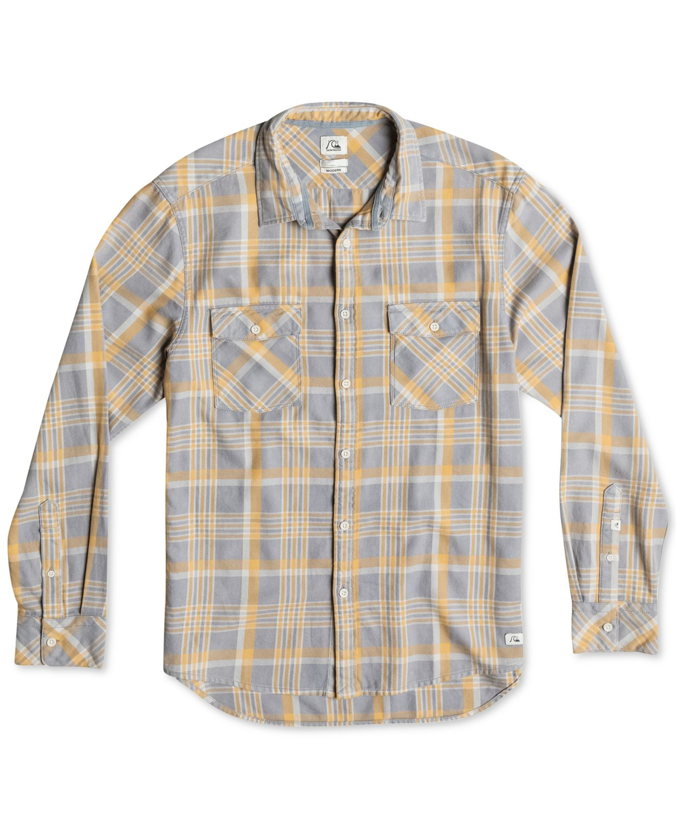 Quiksilver tang titan flannel plaid acid wash shirt in for How to wash flannel shirts