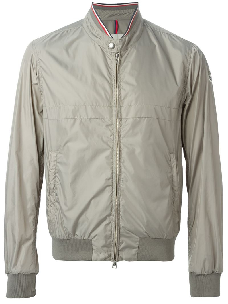 Moncler Classic Windbreaker Jacket in Gray for Men | Lyst