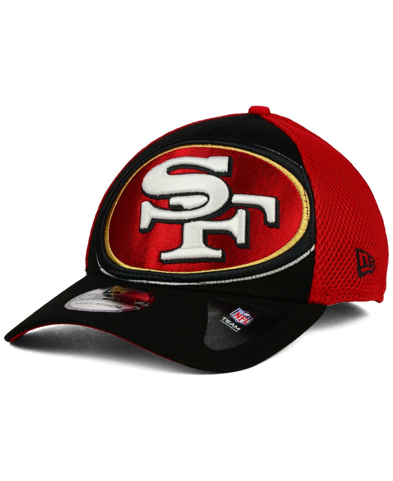 ... new era nfl 2 tone 59fifty cap 45872 793b7  netherlands lyst ktz san  francisco 49ers logo blimp 39thirty cap in red for men 95324 c1086 823c85d4af38