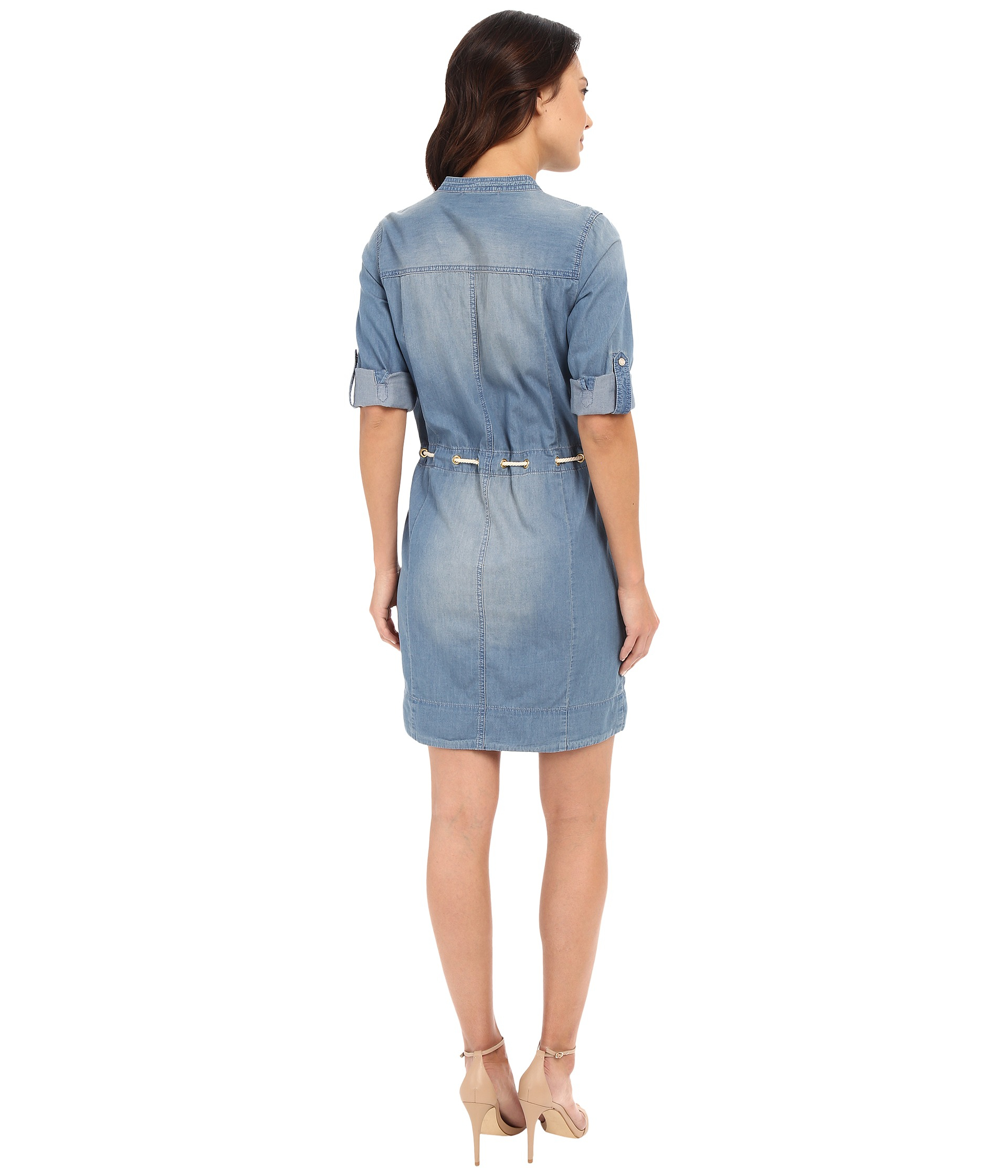 Michael Michael Kors Denim Dress In Blue