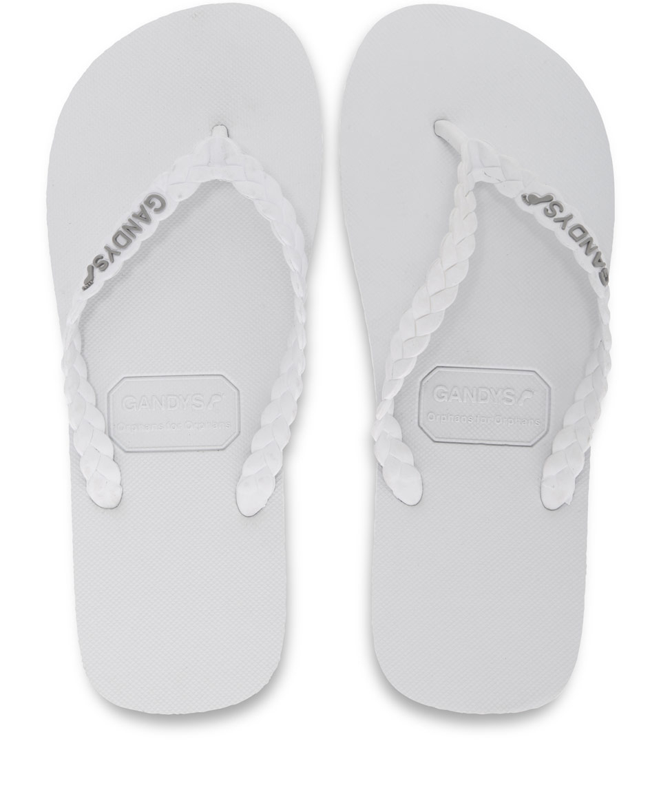 Lyst Gandys Men S Waikiki White Original Flip Flops In