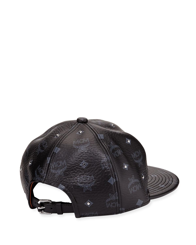 80103fe47a4 Lyst - MCM Visetos Logo Stud Cap in Black for Men