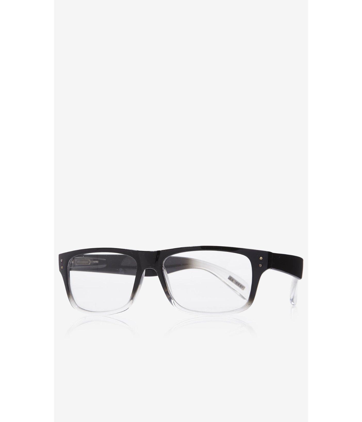 lyst express ombre highbrow frame clear lens glasses in black for men Oakley Half Jacket Sunglasses gallery men s oakley radar men s cat eye sunglasses