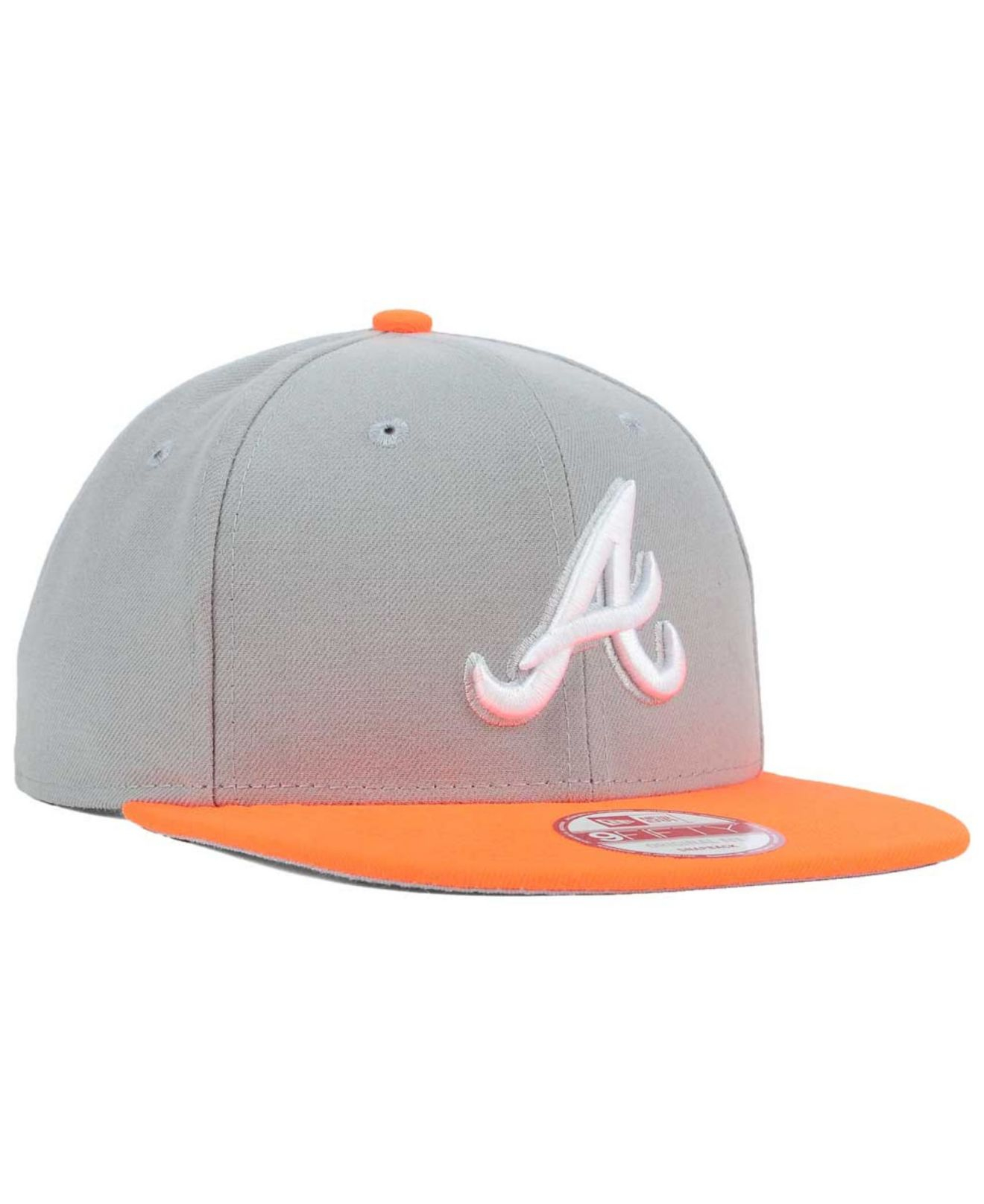 huge discount 3586e 51dfb ... gray for men new zealand atlanta braves fitted hat lyst ktz atlanta  braves the queens 9fifty snapback cap in ...