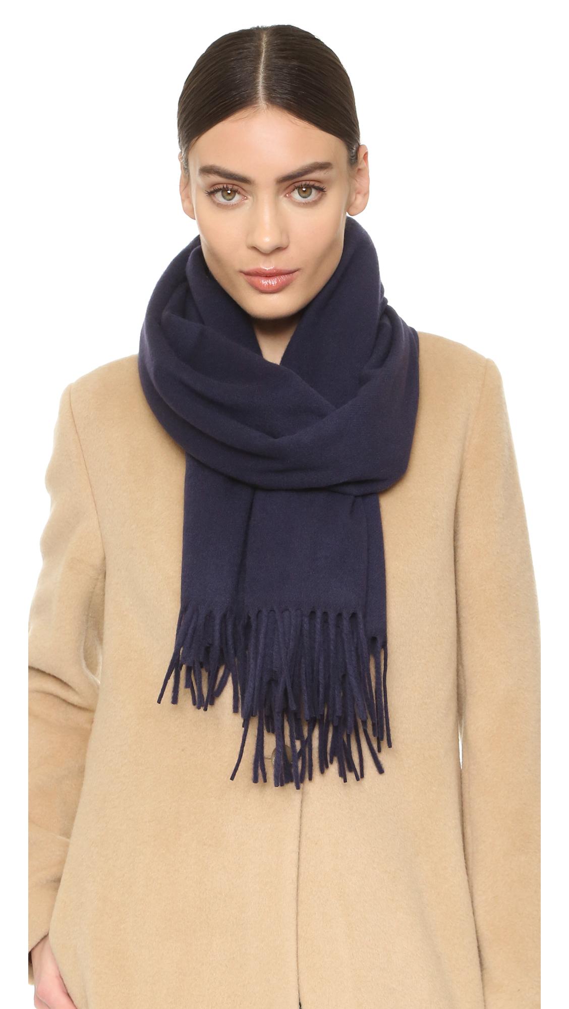 acne studios canada scarf navy in blue lyst