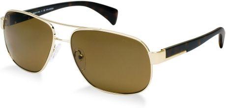 Mens Prada Sunglasses Brown For Men Gold/brown Prada