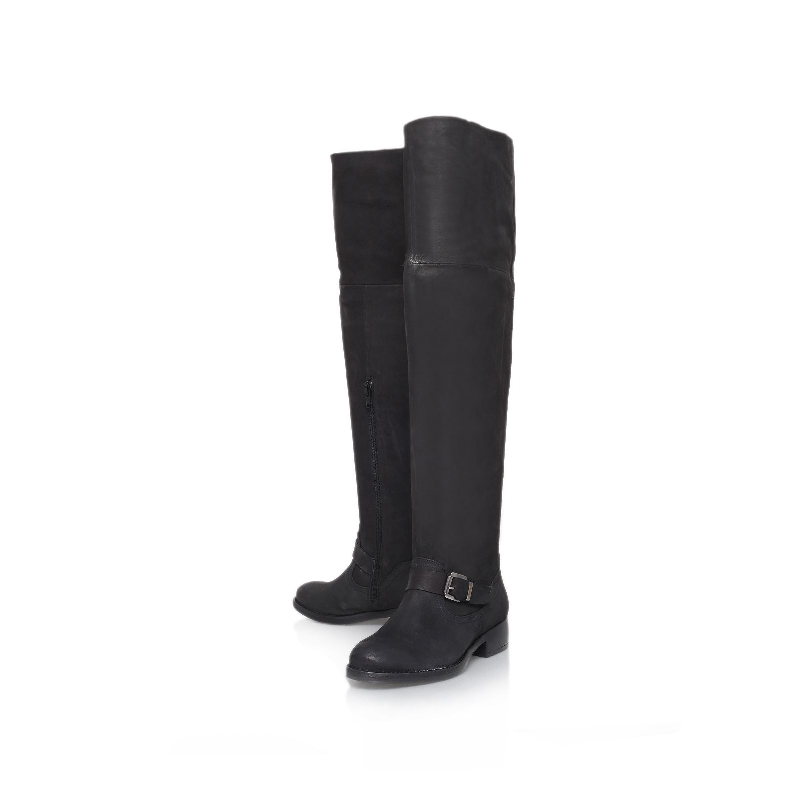 kurt geiger knee high boots in black lyst