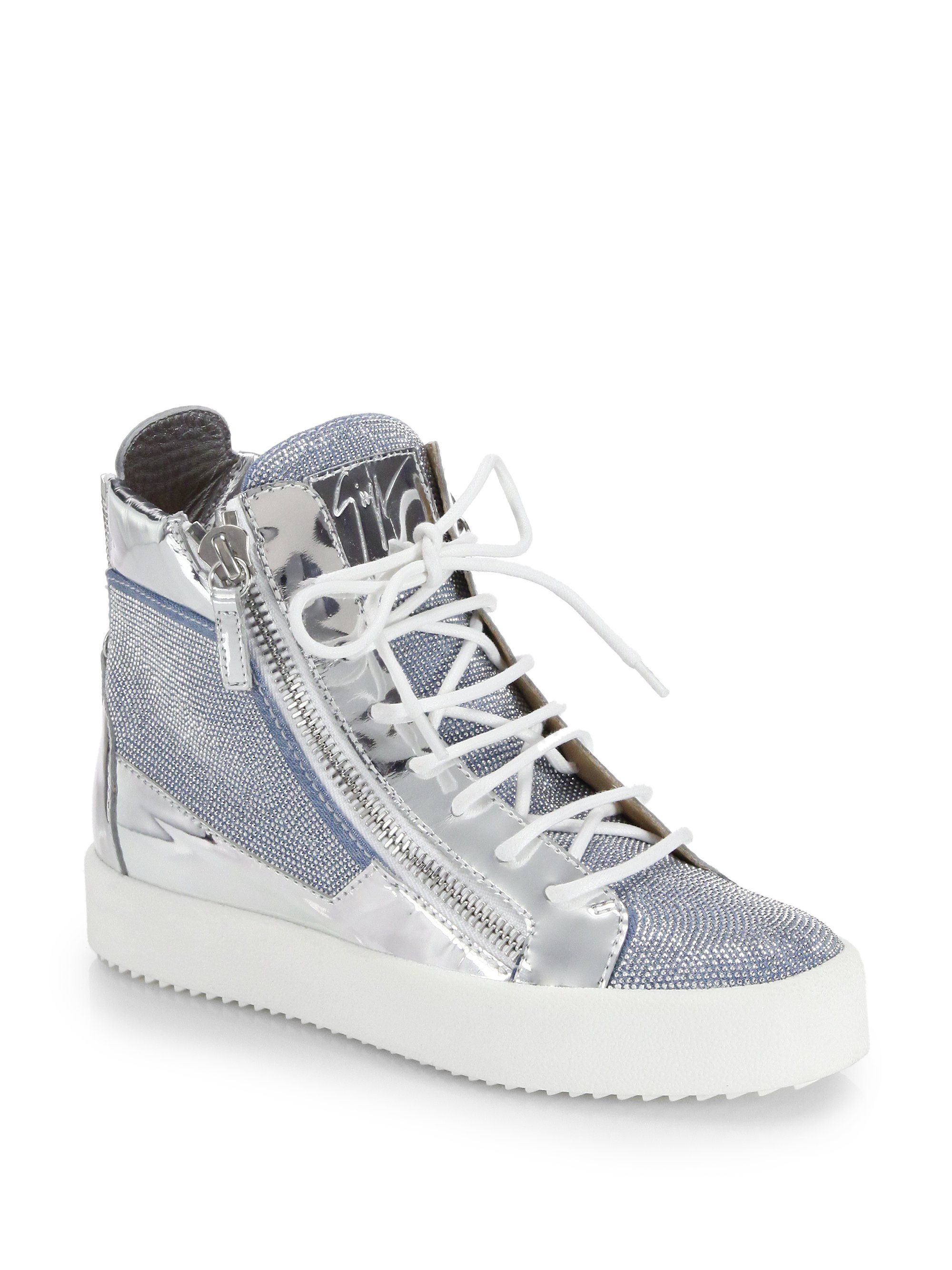 giuseppe zanotti metallic sneakers for women