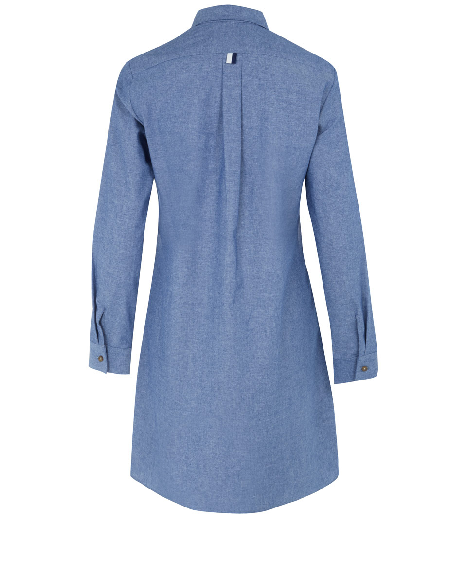 Lyst Harvey Faircloth Blue Cotton Chambry Shirt Dress In