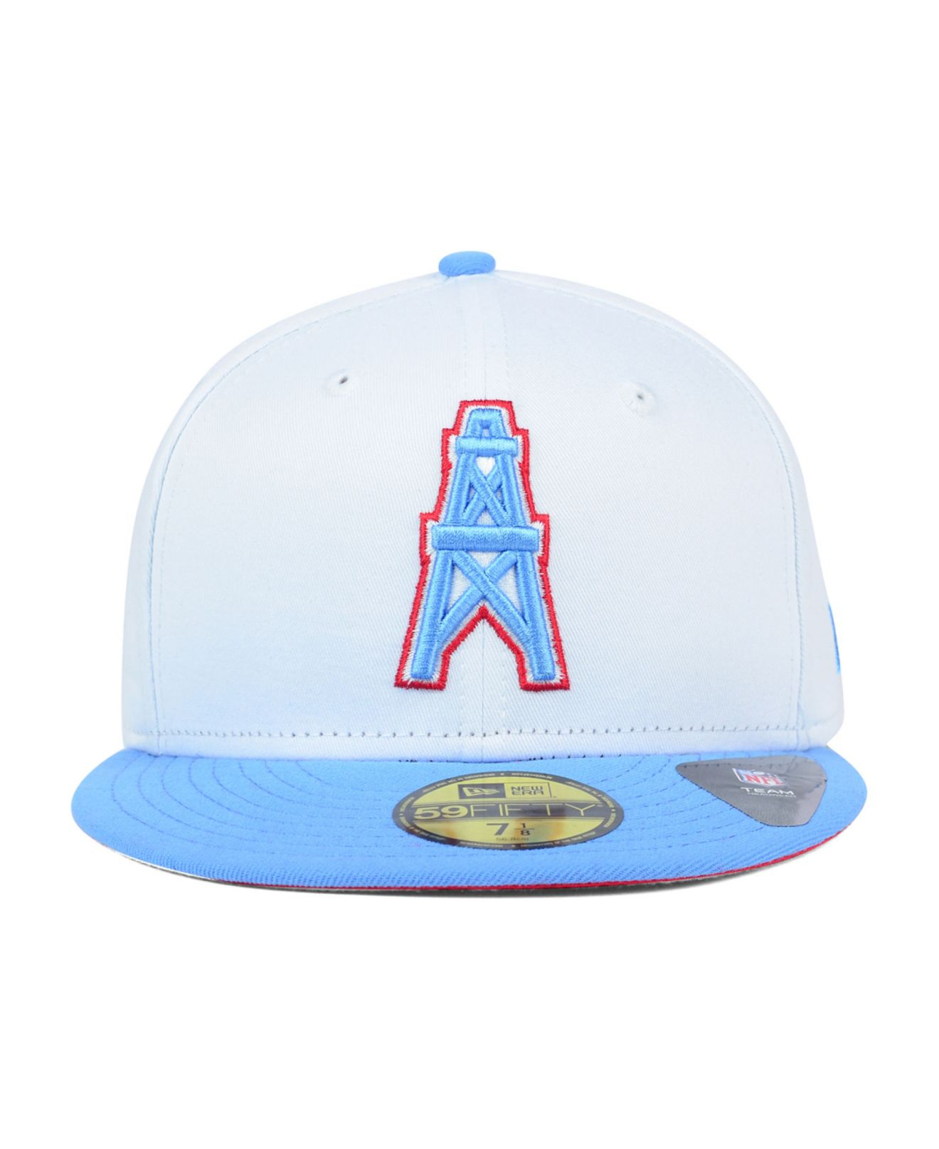 Lyst - KTZ Houston Oilers Nfl 2 Tone White Team 59fifty Cap in White ... 3a5711eee58