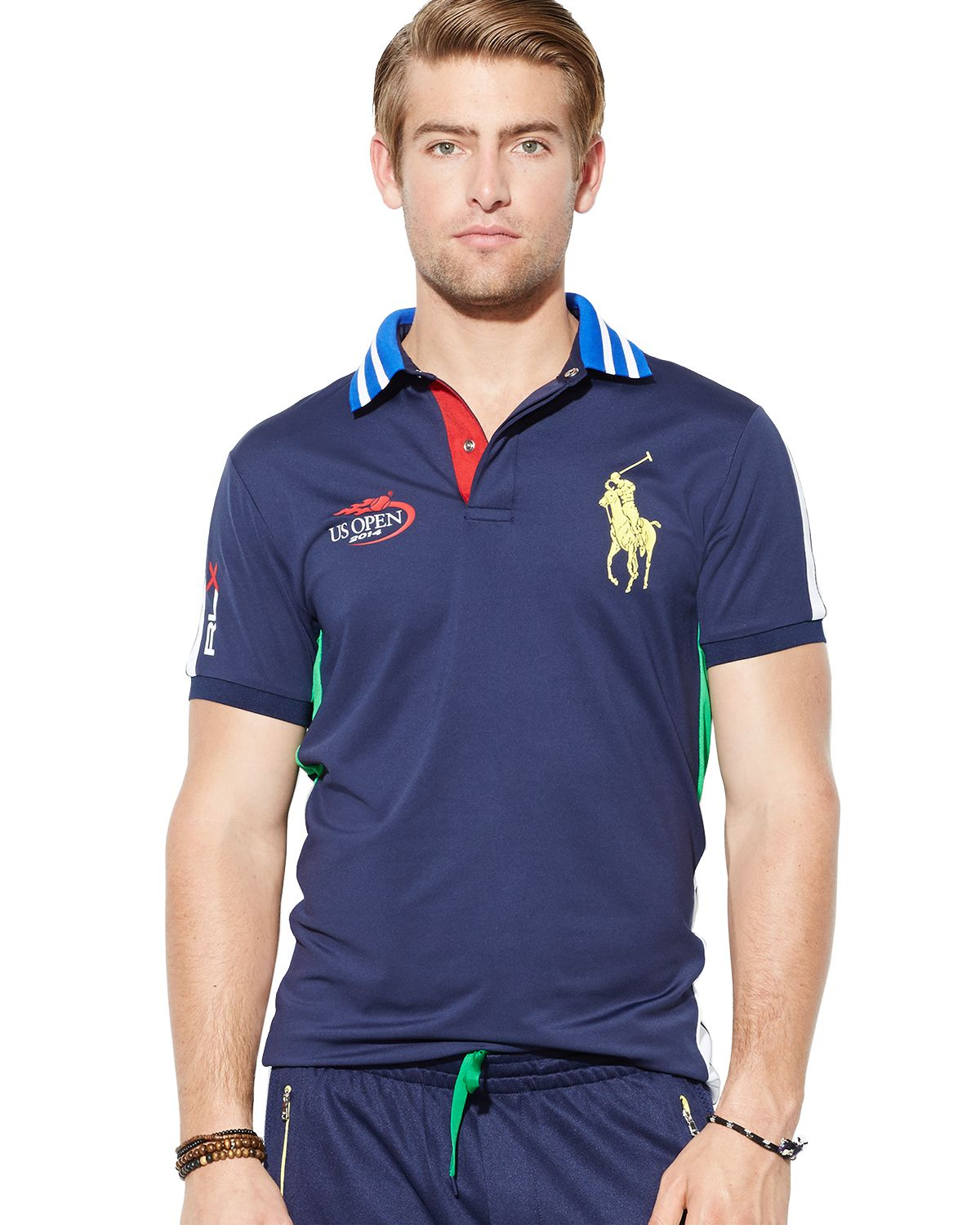 Ralph lauren polo us open rlx custom ball boy airflow polo for Us polo shirts for mens