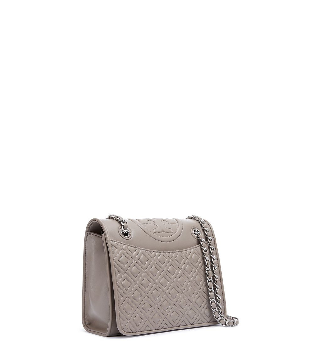 466bd1182bd Tory Burch Fleming Medium Bag in Gray - Lyst