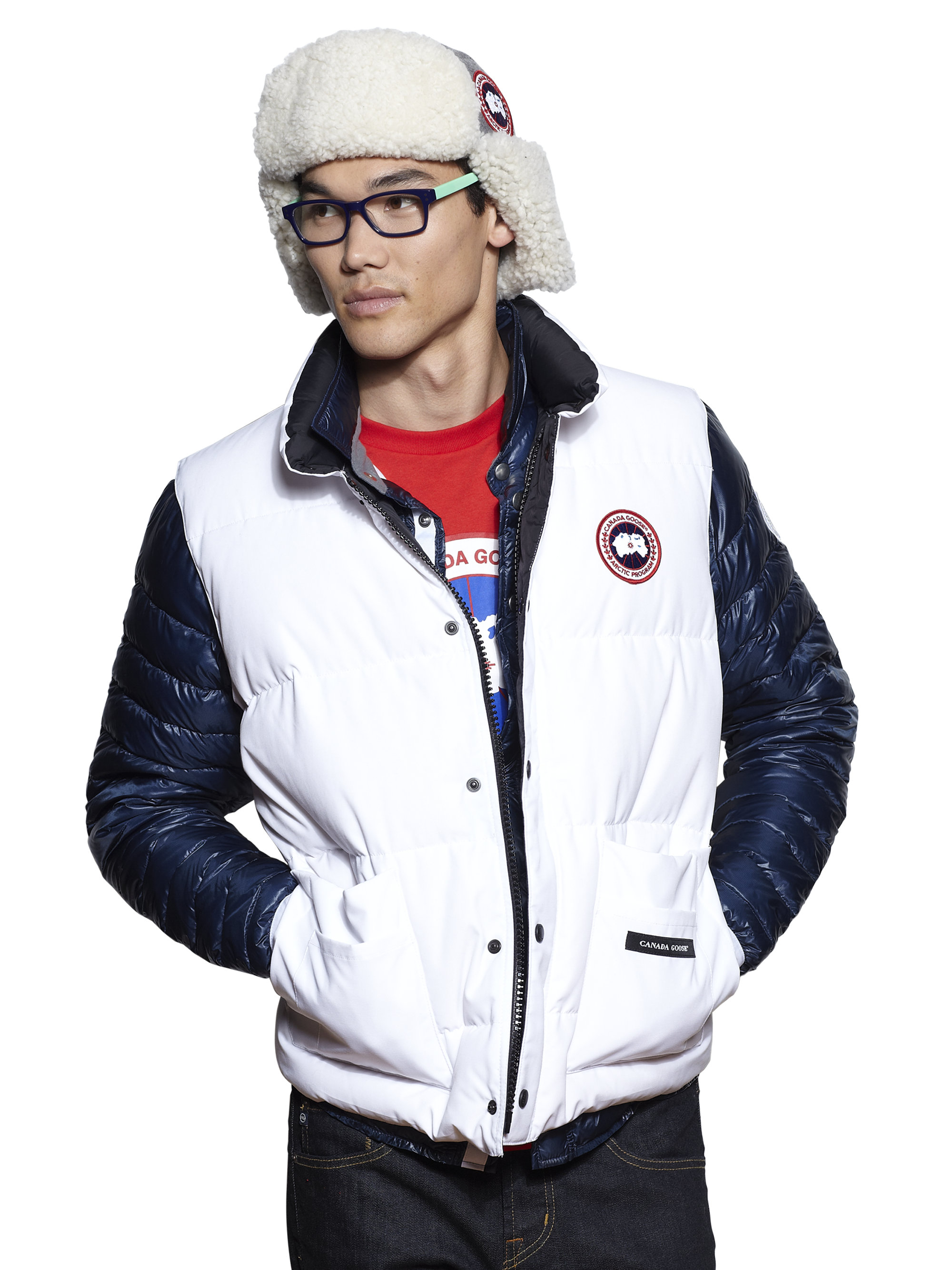 Canada Goose Freestyle Puffer Vest In White For Men Lyst