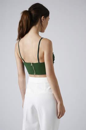 87762524694 Lyst - TOPSHOP Womens Cluster Embellished Bralet Green in Green