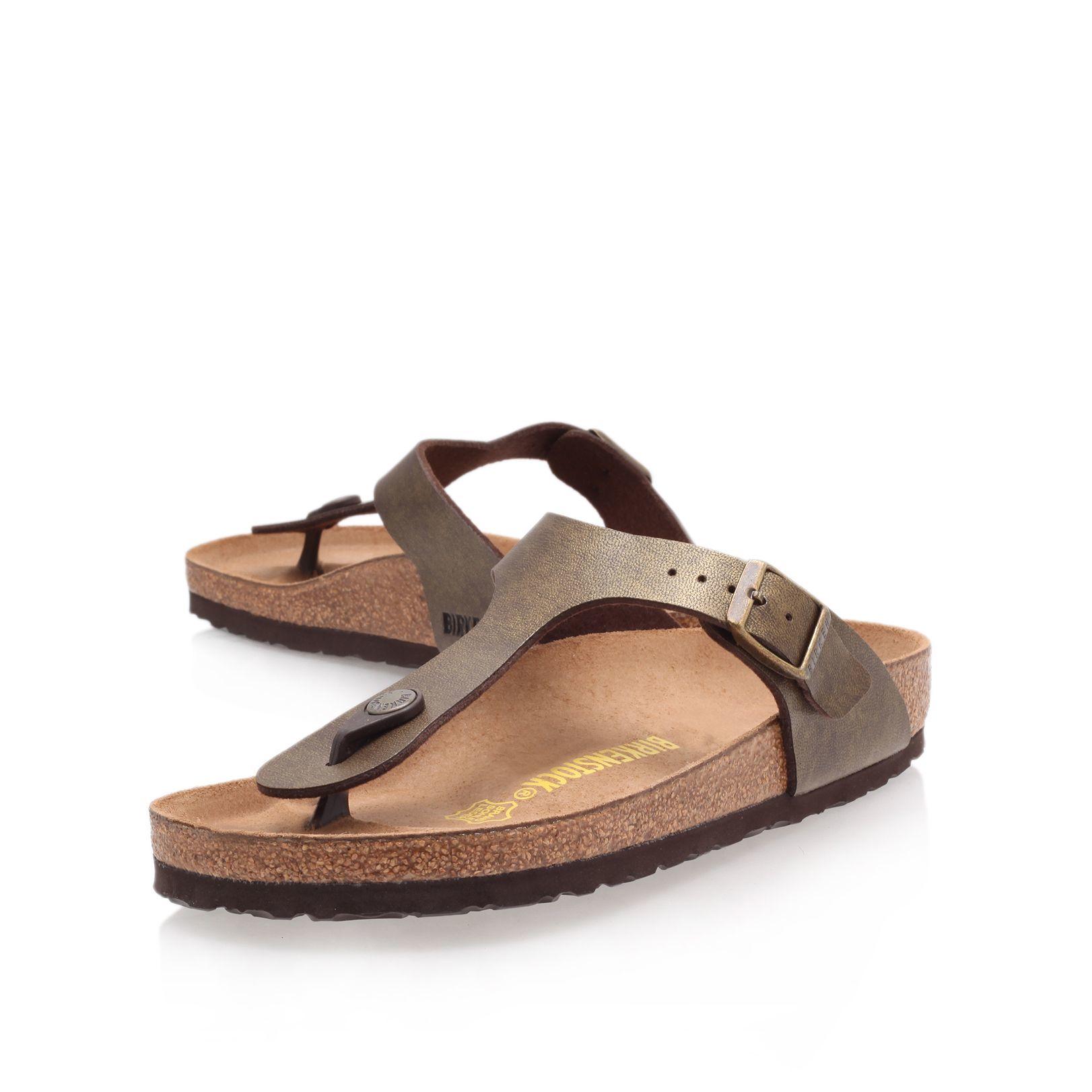 birkenstock gizeh sandals in metallic lyst. Black Bedroom Furniture Sets. Home Design Ideas