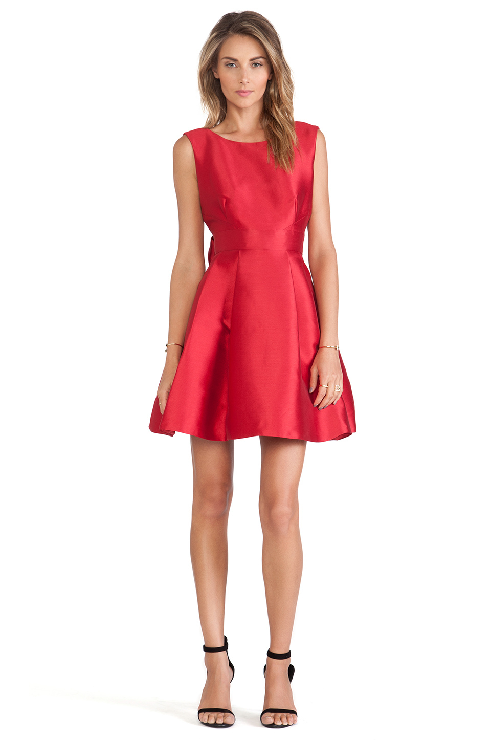 Kate Spade New York Backless Bow Mini Dress In Red Lyst