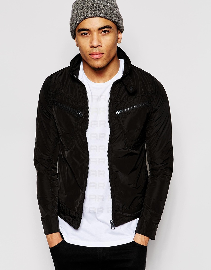 lyst g star raw jacket arc zip 3d slim fit nylon in black for men. Black Bedroom Furniture Sets. Home Design Ideas