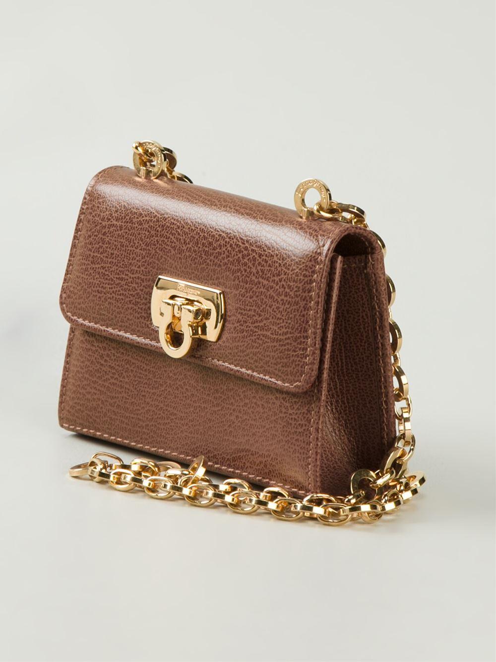 261712069b9c Lyst - Ferragamo Micro Cross Body Bag in Brown