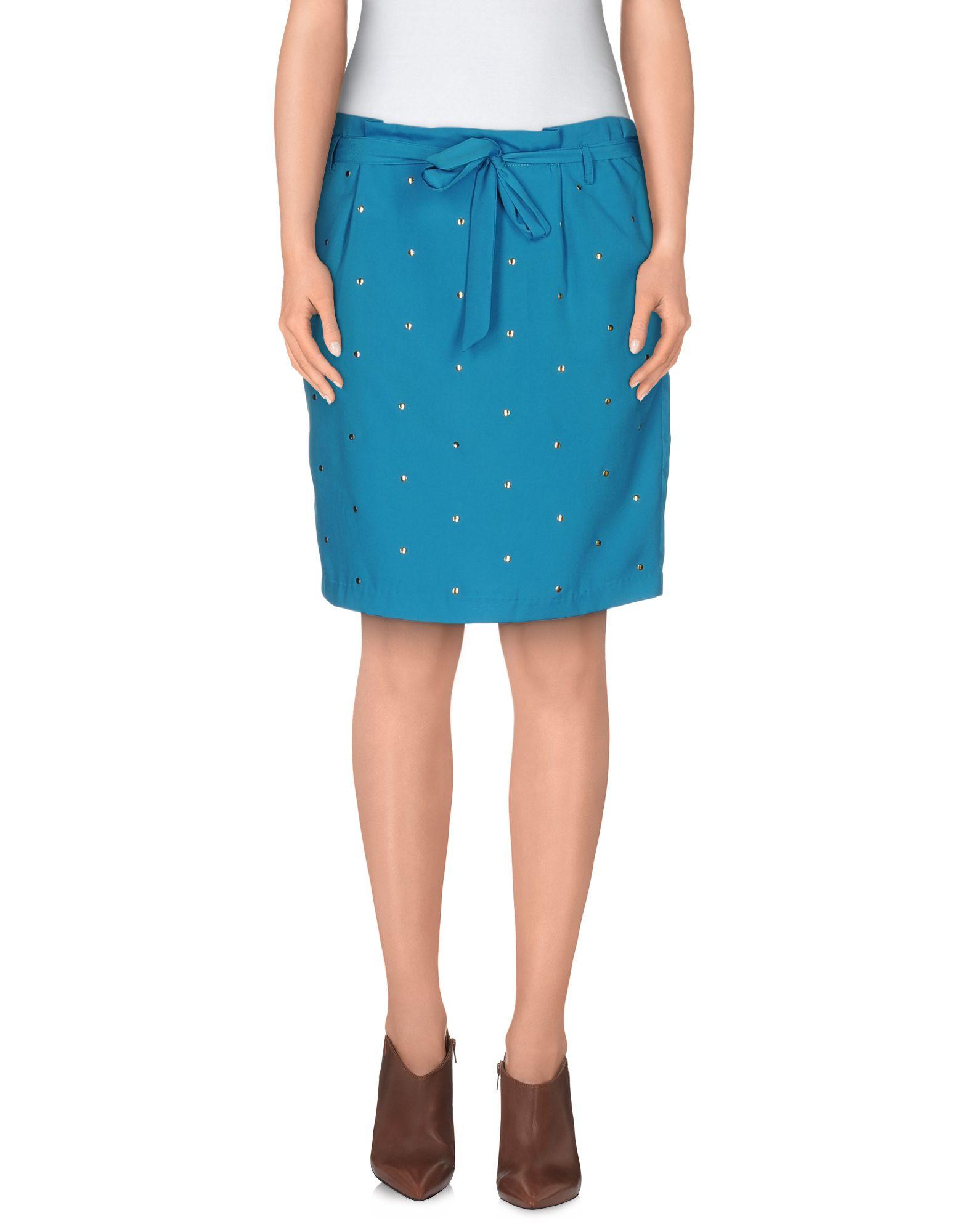 beayukmui knee length skirt in blue lyst