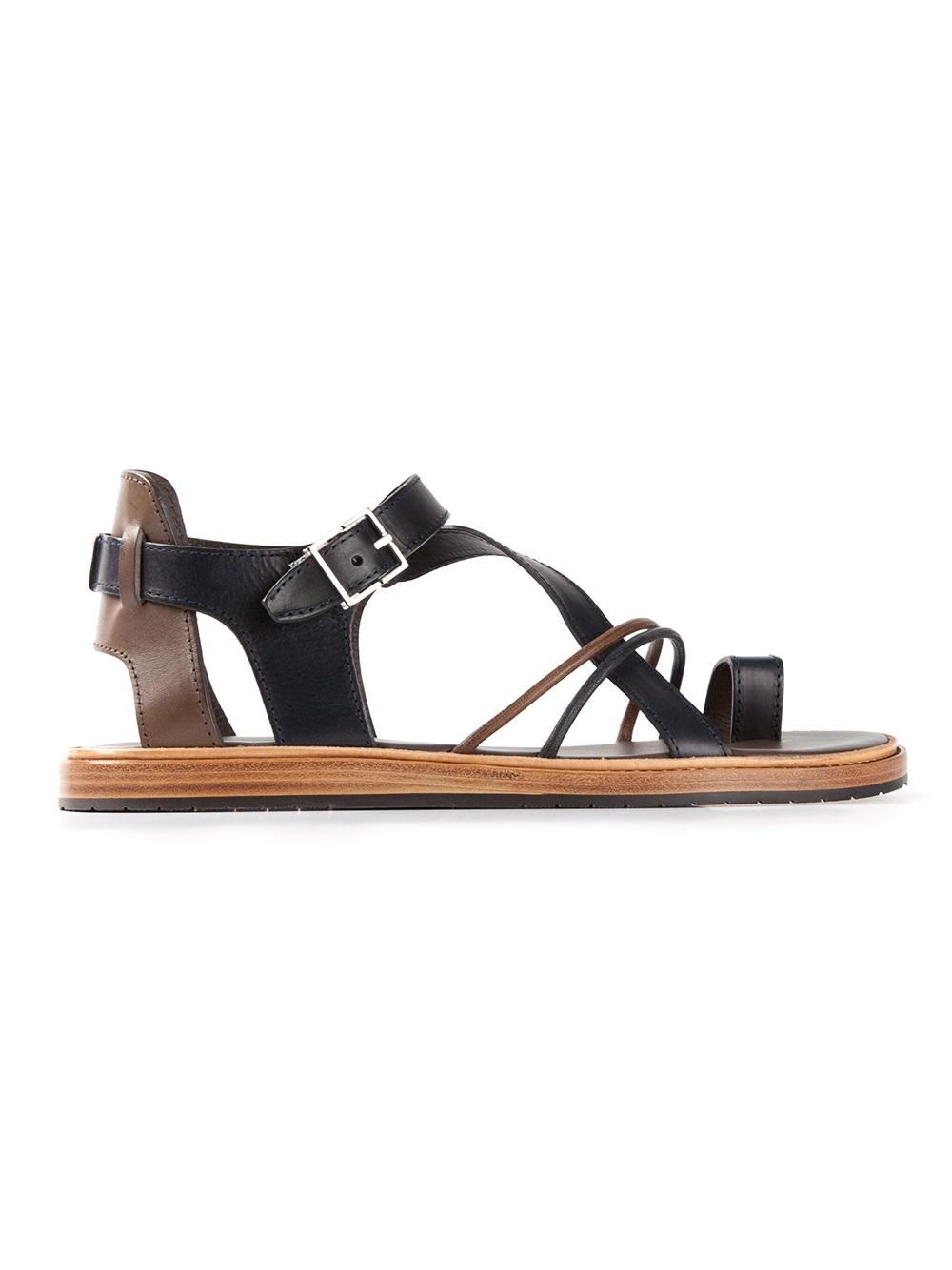 b425bcd517f Lyst - Dior Homme Strap Sandals in Black for Men